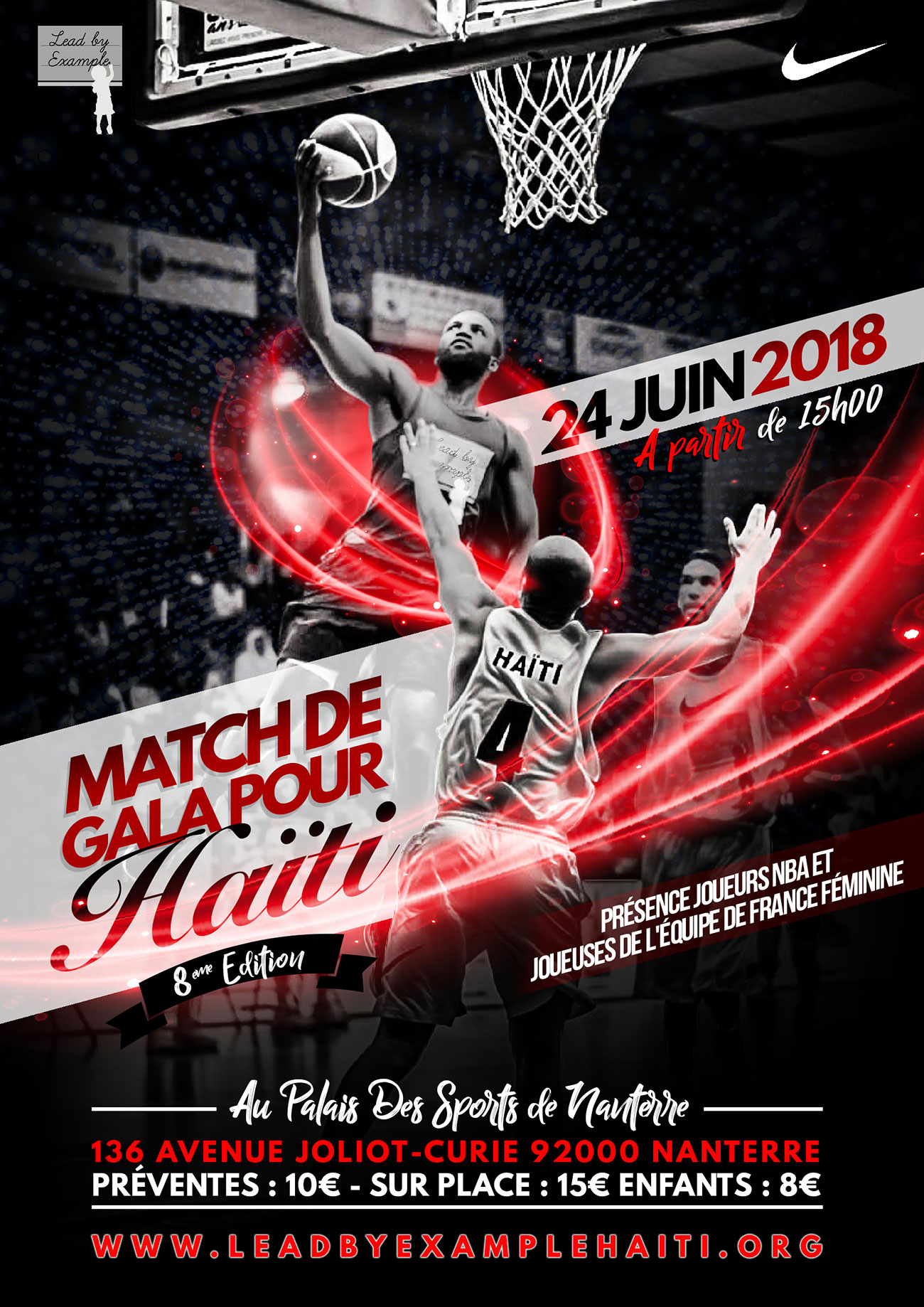 Match de gala Lead by example 2018